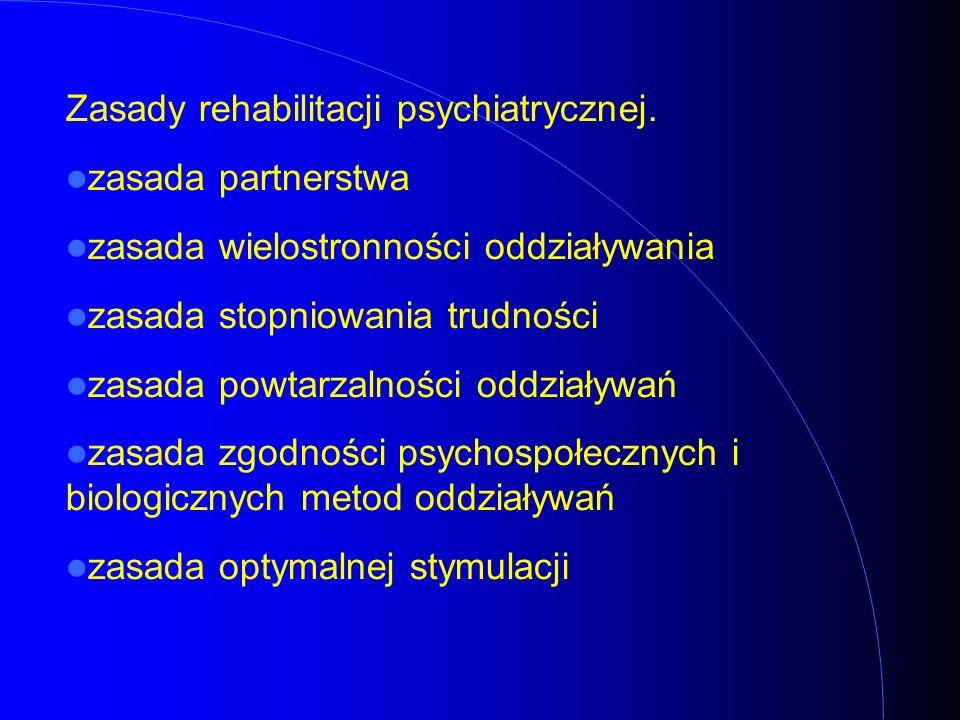 Zasady rehabilitacji psychiatrycznej.