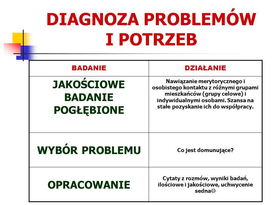 DIAGNOZA PROBLEMÓW I POTRZEB