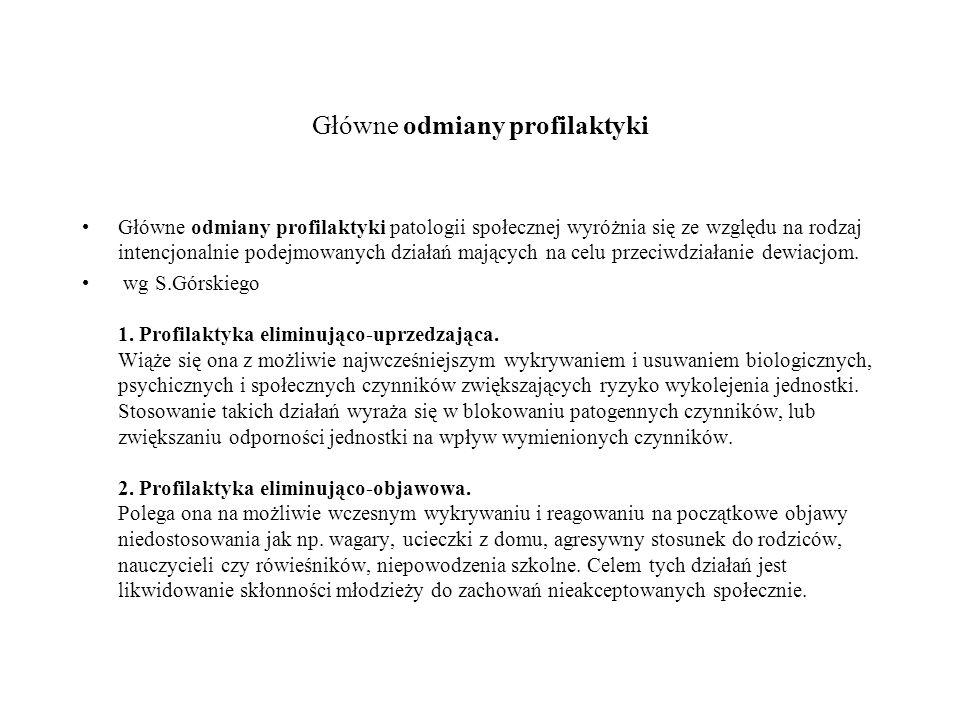 Główne odmiany profilaktyki