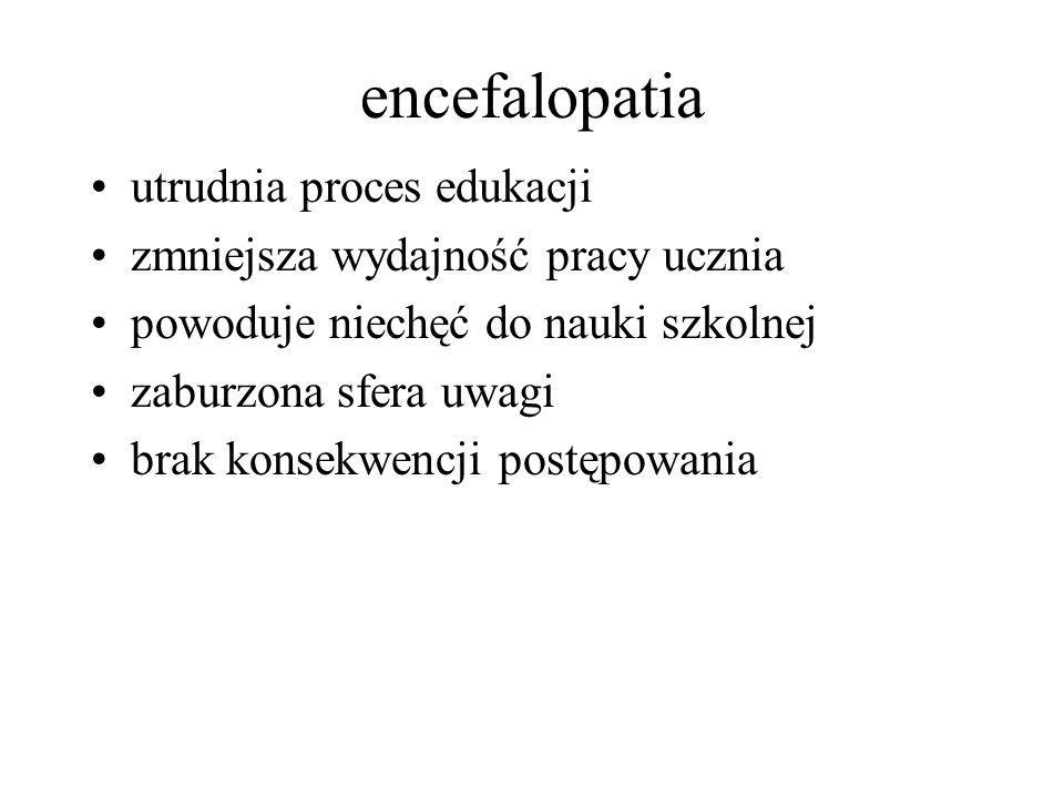 encefalopatia utrudnia proces edukacji