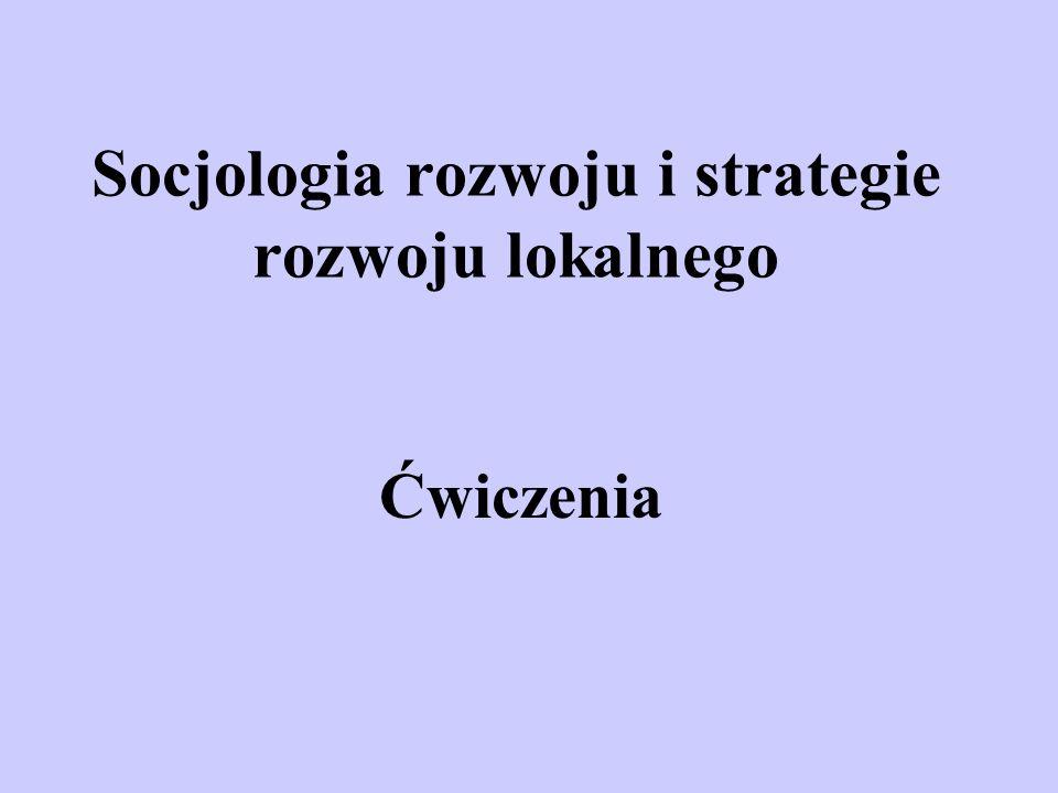 Socjologia rozwoju i strategie rozwoju lokalnego