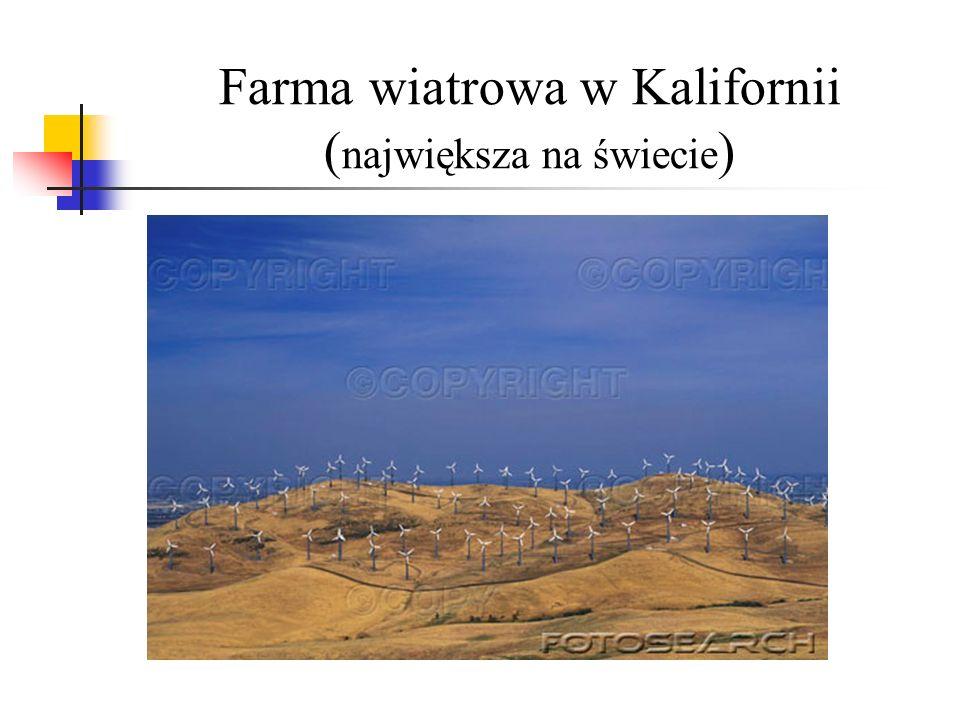 Farma wiatrowa w Kalifornii (największa na świecie)