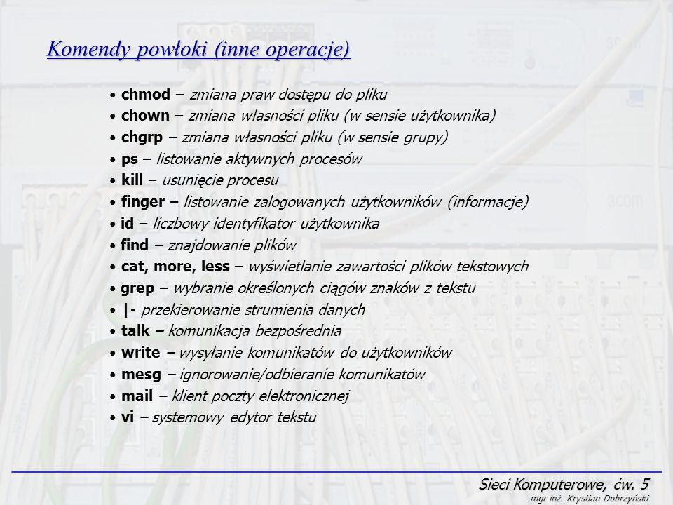 Komendy powłoki (inne operacje)