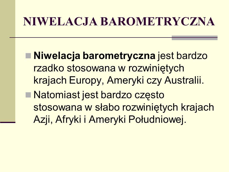 NIWELACJA BAROMETRYCZNA
