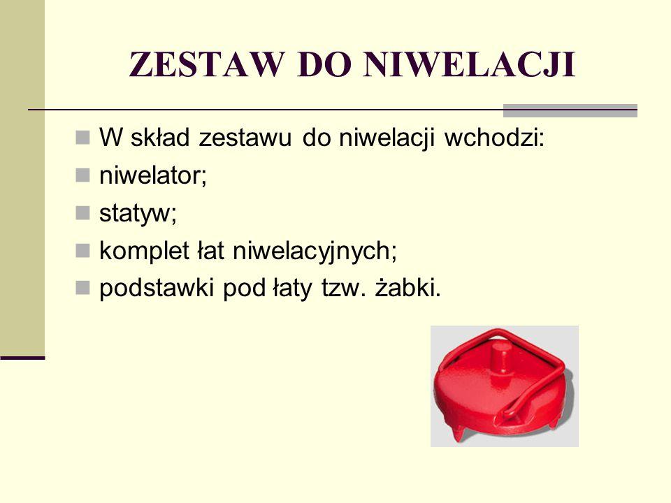 ZESTAW DO NIWELACJI W skład zestawu do niwelacji wchodzi: niwelator;