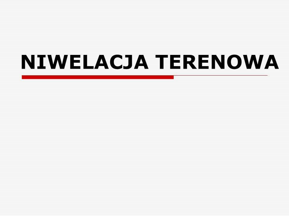 NIWELACJA TERENOWA