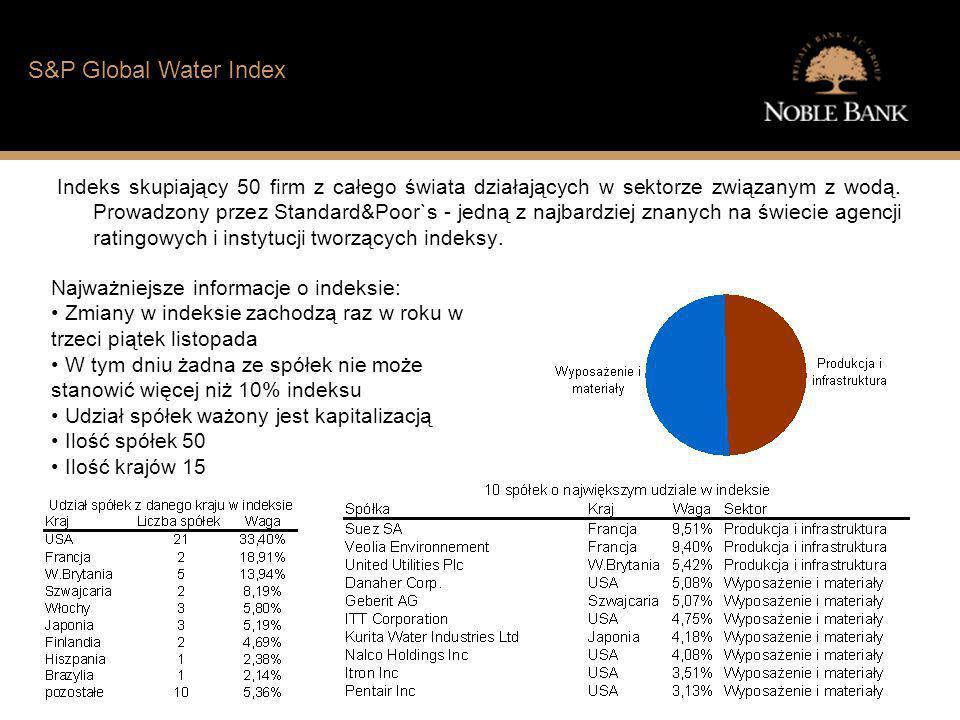 Jak wygląda sytuacja finansowa typowego Polaka S&P Global Water Index