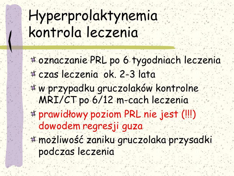 Hyperprolaktynemia kontrola leczenia