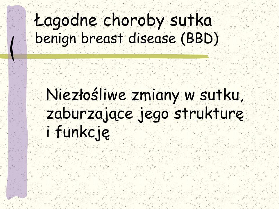 Łagodne choroby sutka benign breast disease (BBD)