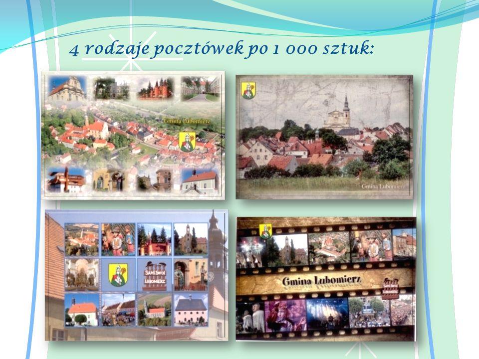 4 rodzaje pocztówek po 1 000 sztuk: