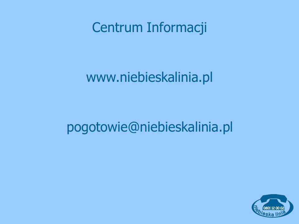 Centrum Informacji www.niebieskalinia.pl pogotowie@niebieskalinia.pl