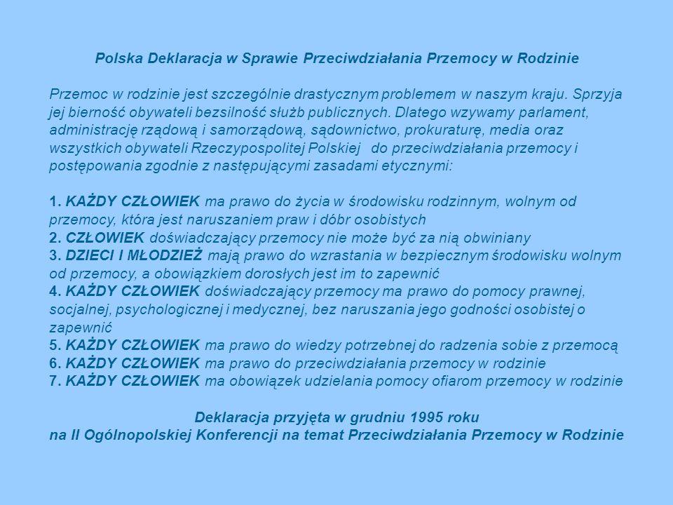 Polska Deklaracja w Sprawie Przeciwdziałania Przemocy w Rodzinie