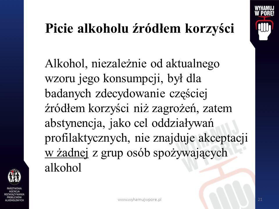 Picie alkoholu źródłem korzyści