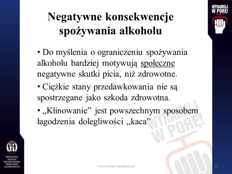 Negatywne konsekwencje spożywania alkoholu