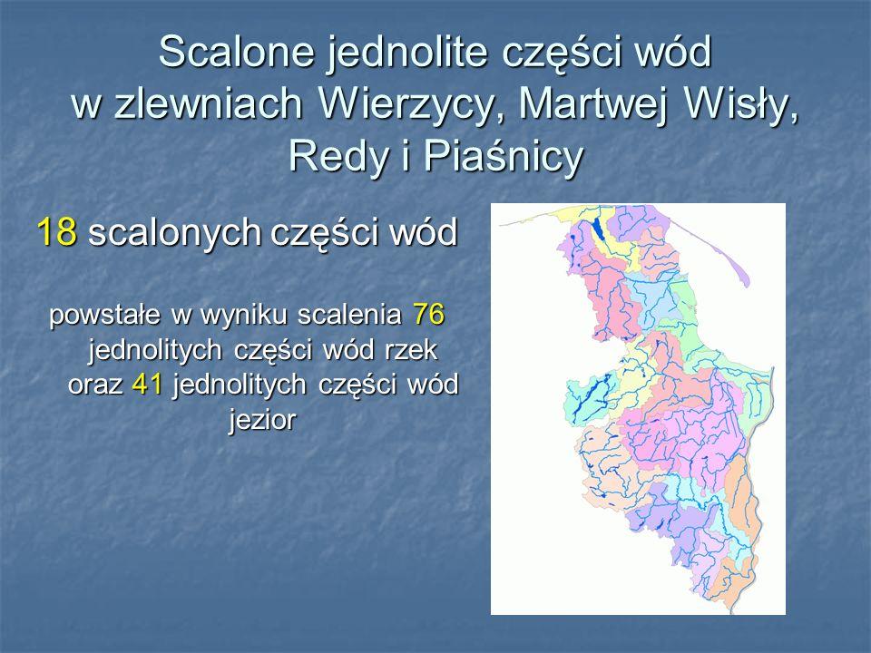 Scalone jednolite części wód w zlewniach Wierzycy, Martwej Wisły, Redy i Piaśnicy