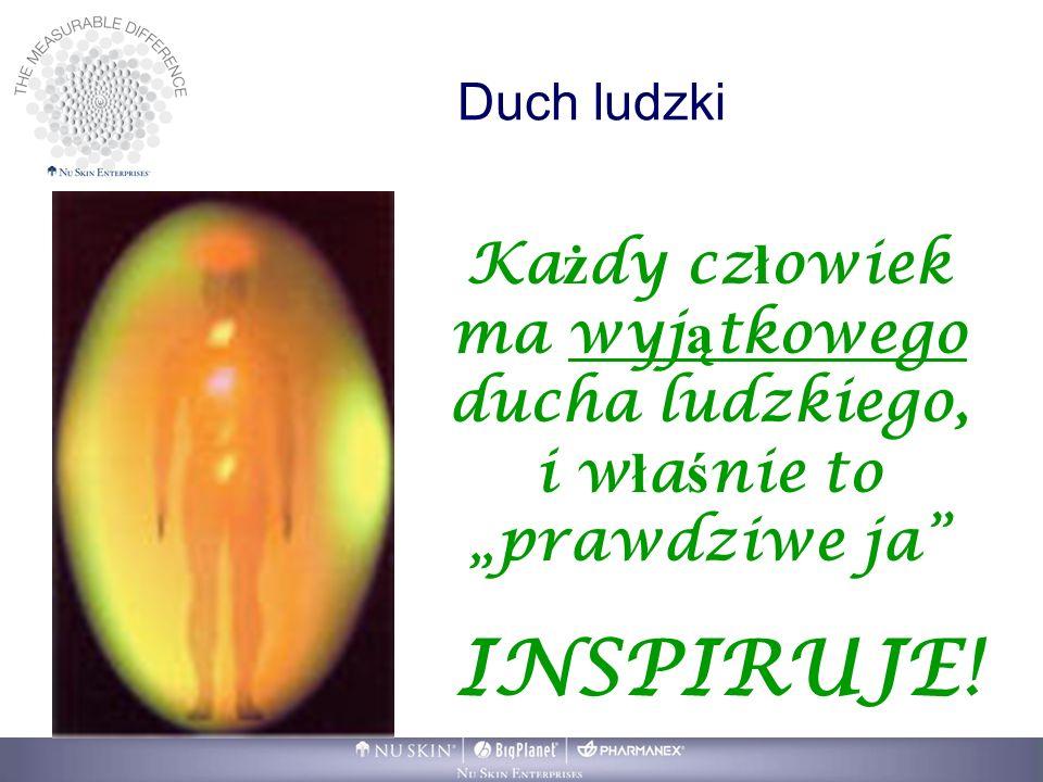 """Duch ludzki Każdy człowiek ma wyjątkowego ducha ludzkiego, i właśnie to """"prawdziwe ja INSPIRUJE!"""