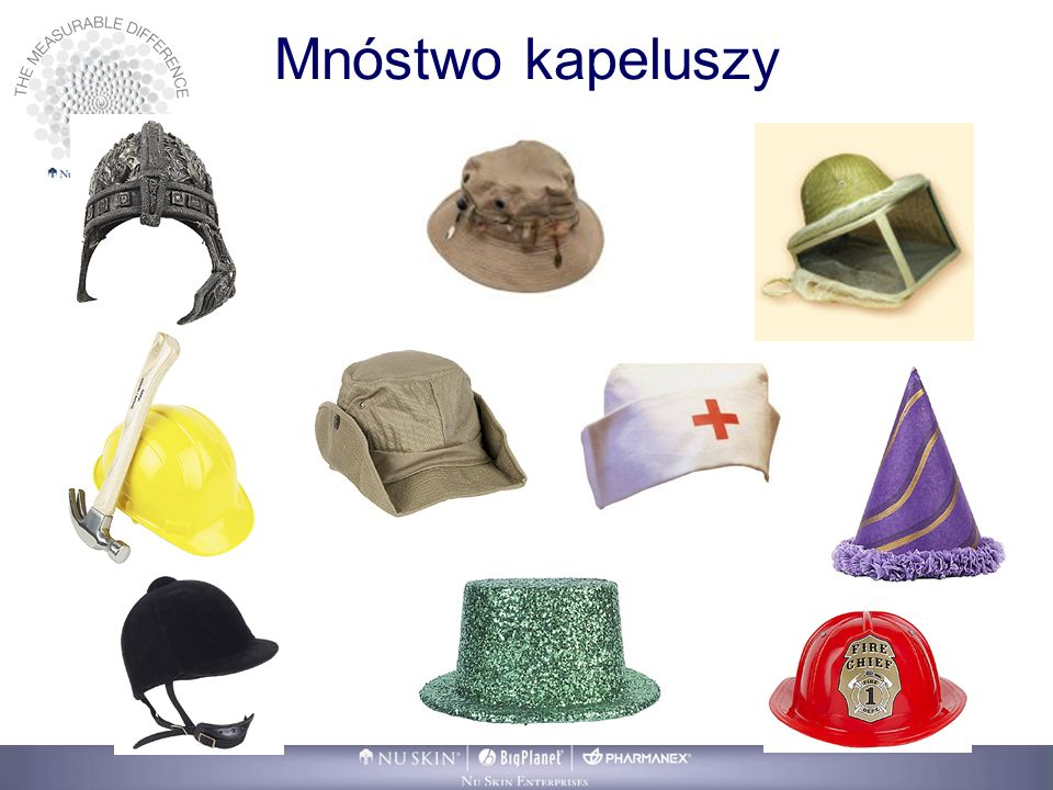 Mnóstwo kapeluszy One final observation. AS you grow your business, you may feel like you are wearing a lot of different hats: