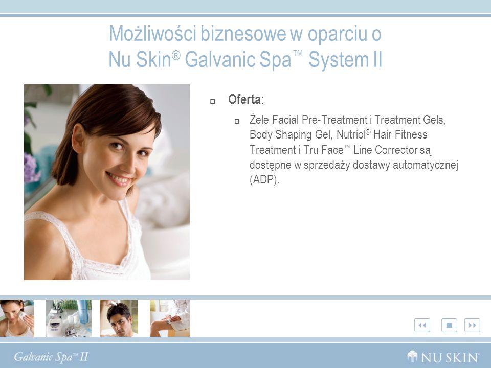 Możliwości biznesowe w oparciu o Nu Skin® Galvanic Spa™ System II