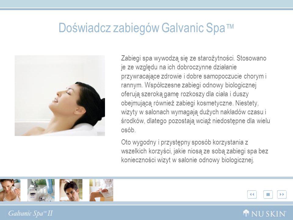 Doświadcz zabiegów Galvanic Spa™