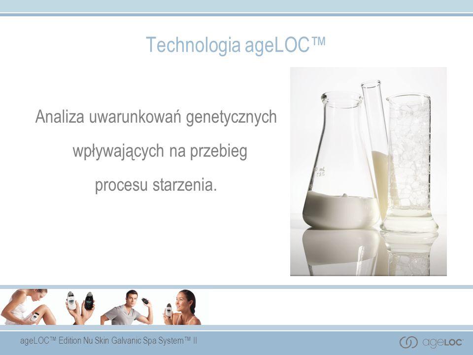 Technologia ageLOC™ Analiza uwarunkowań genetycznych wpływających na przebieg procesu starzenia.