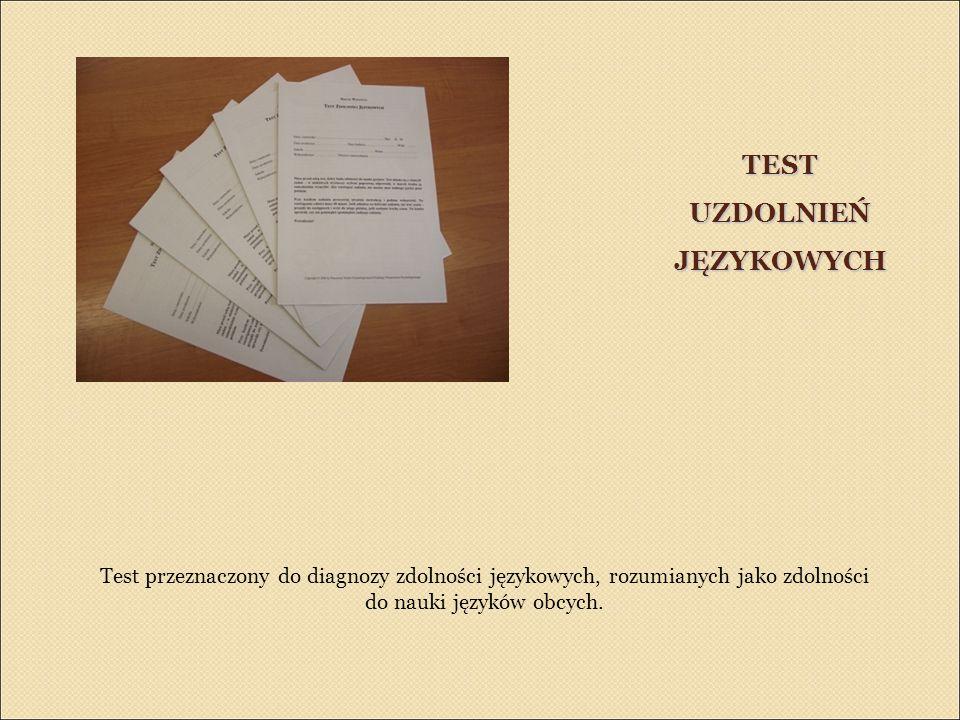 TEST UZDOLNIEŃ JĘZYKOWYCH