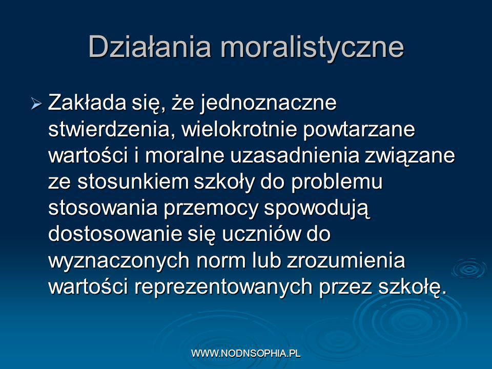 Działania moralistyczne