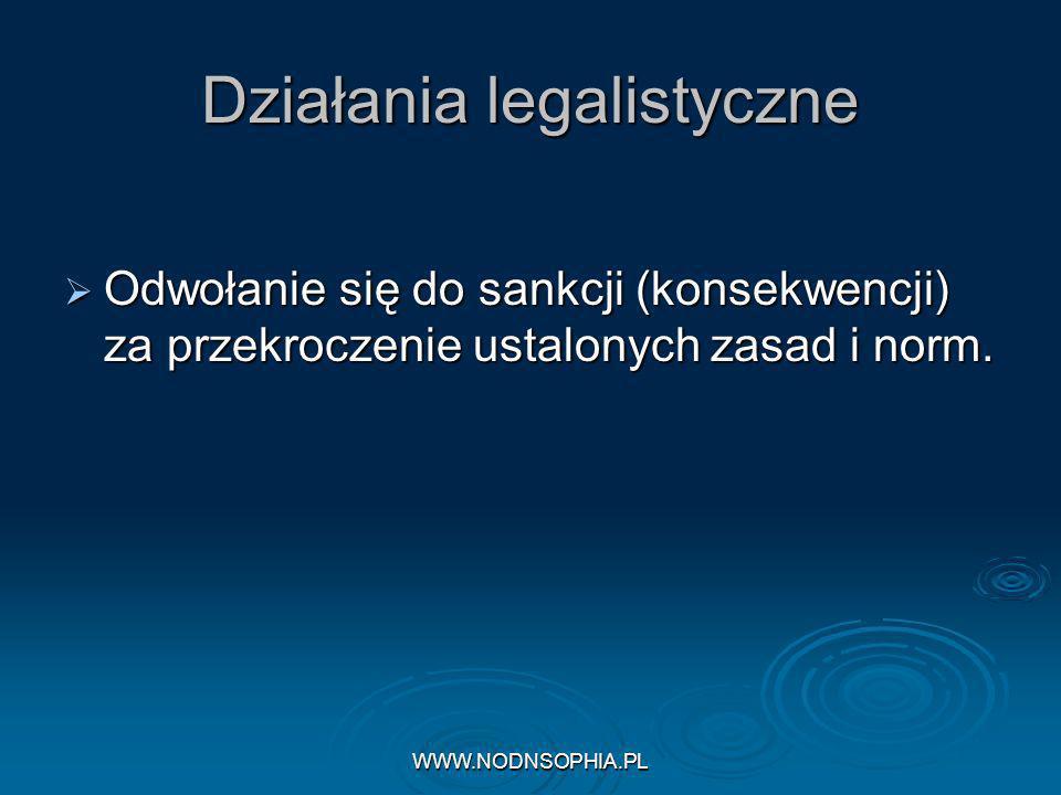 Działania legalistyczne
