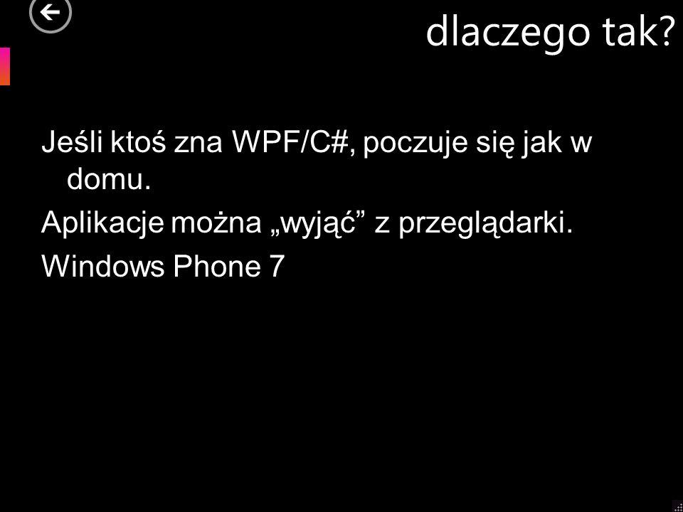 dlaczego tak. Jeśli ktoś zna WPF/C#, poczuje się jak w domu.