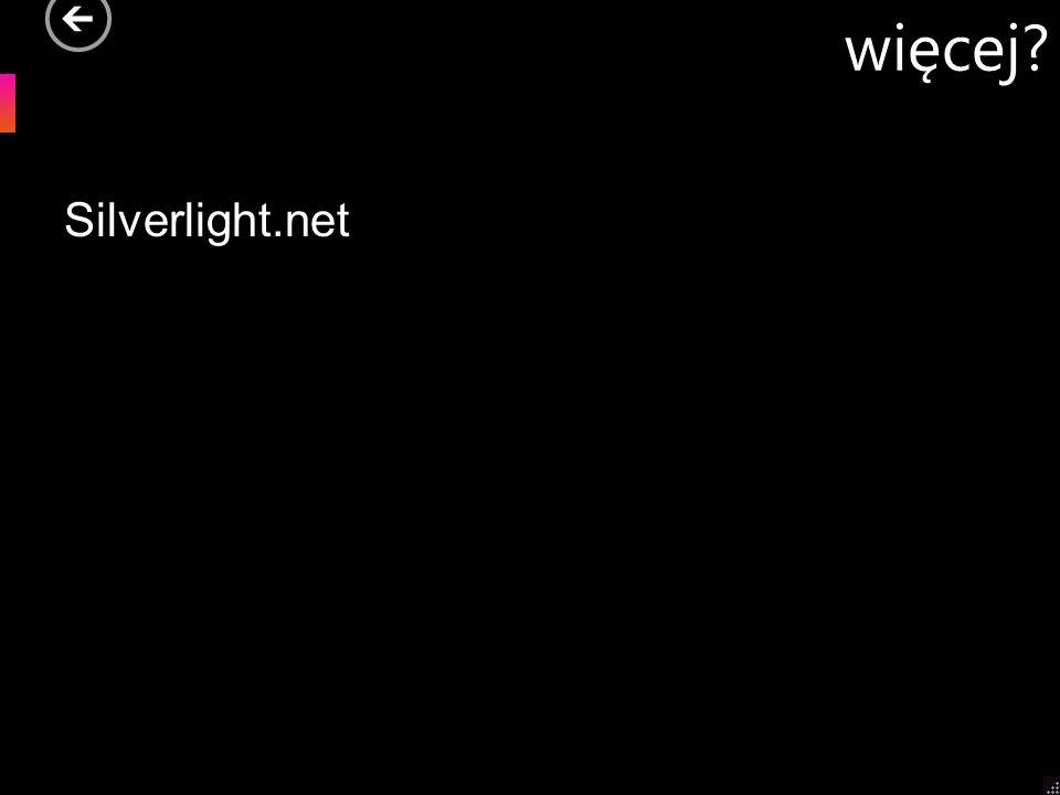 więcej Silverlight.net