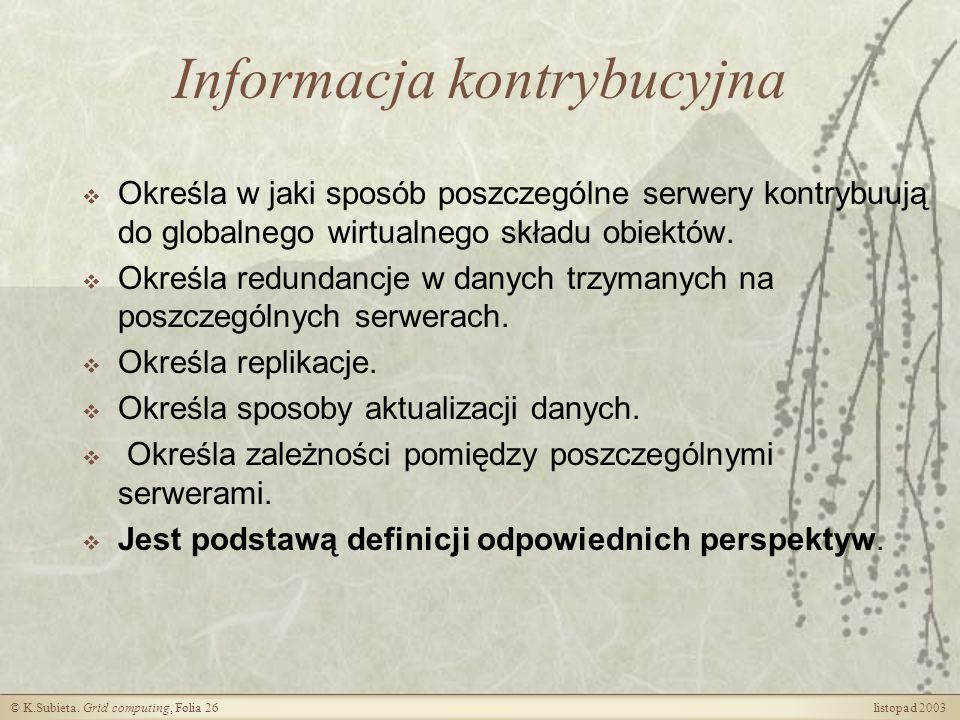 Informacja kontrybucyjna