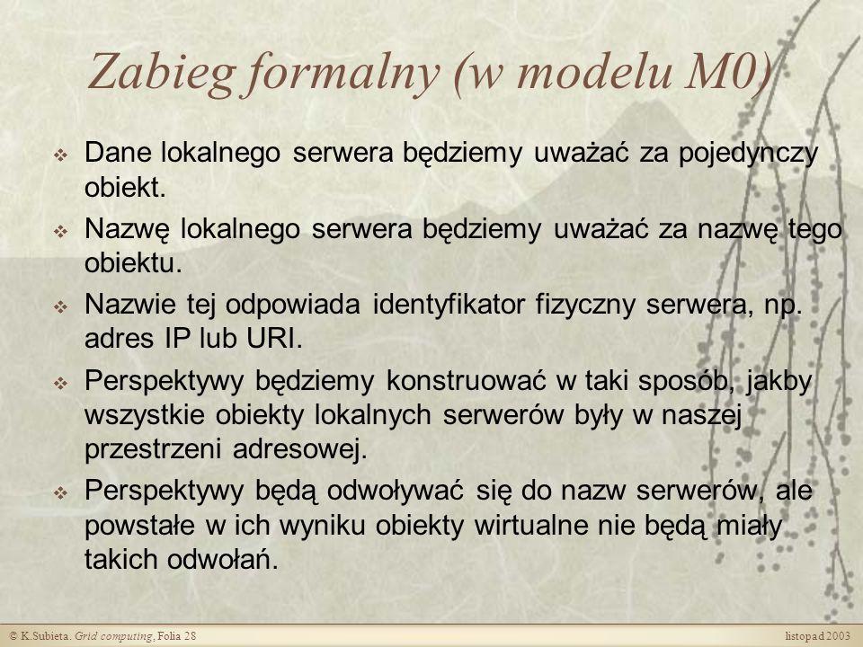 Zabieg formalny (w modelu M0)