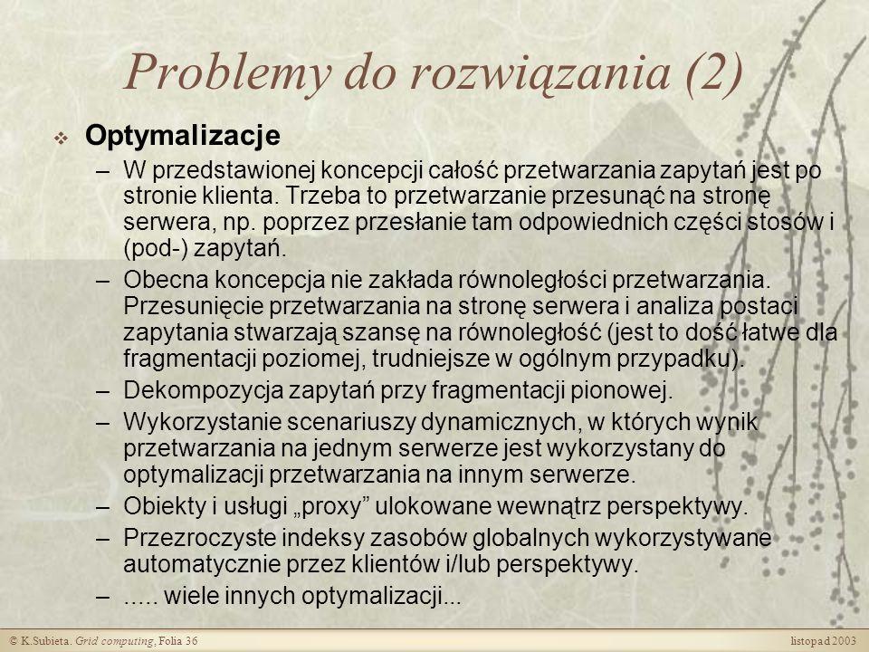 Problemy do rozwiązania (2)