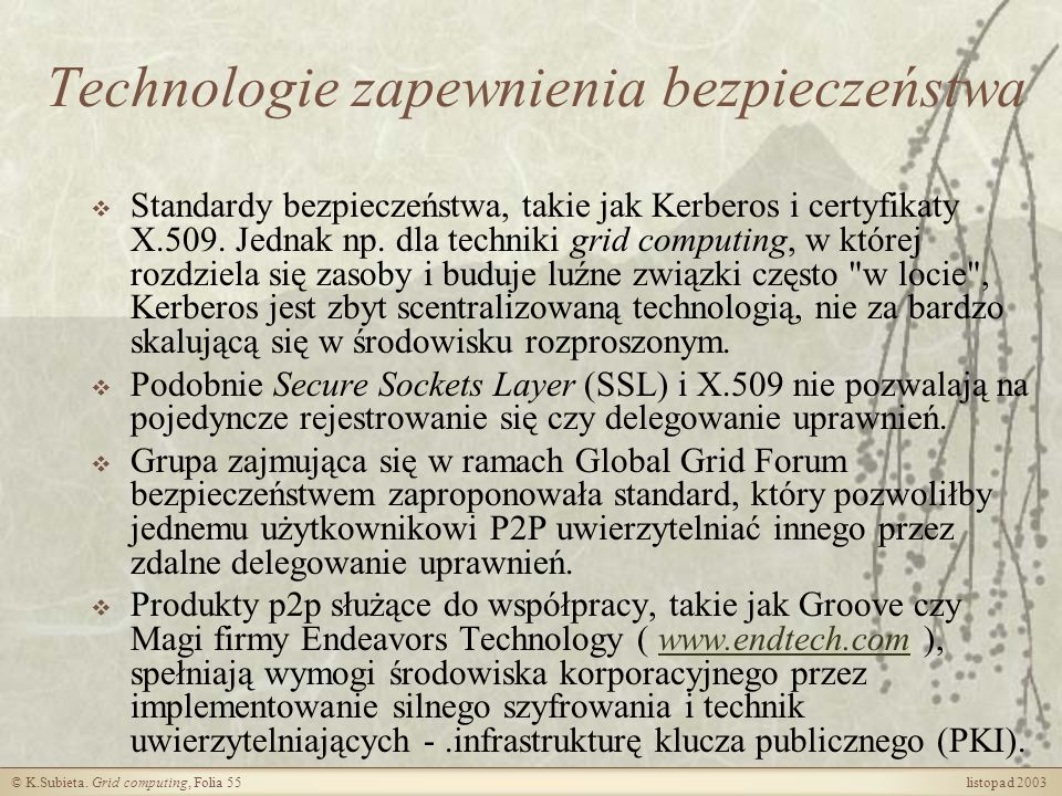 Technologie zapewnienia bezpieczeństwa