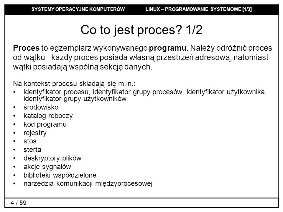 Co to jest proces 1/2