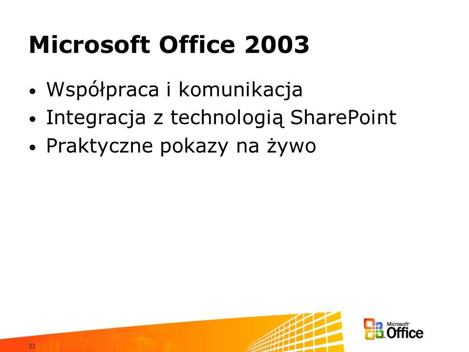Microsoft Office 2003 Współpraca i komunikacja