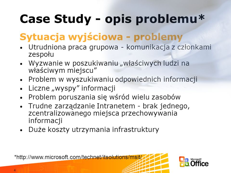 Case Study - opis problemu*