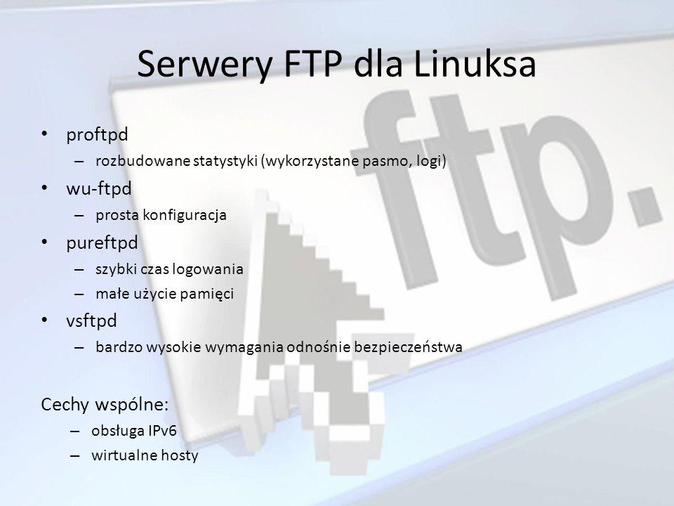 Serwery FTP dla Linuksa