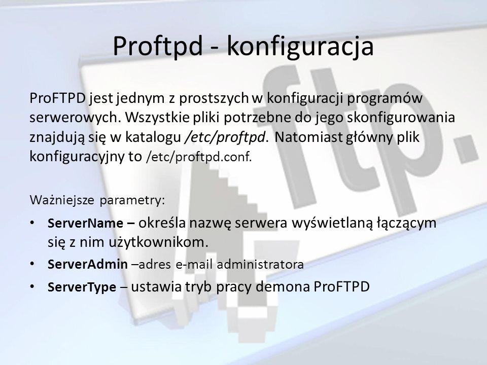 Proftpd - konfiguracja