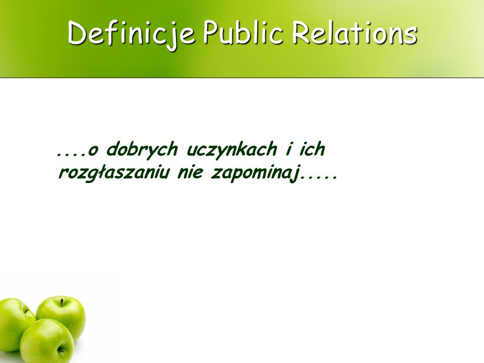 Definicje Public Relations