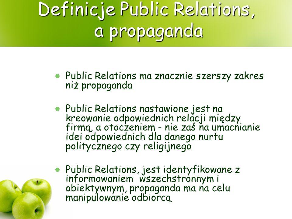 Definicje Public Relations, a propaganda