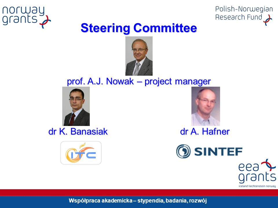 Steering Committee prof. A.J. Nowak – project manager