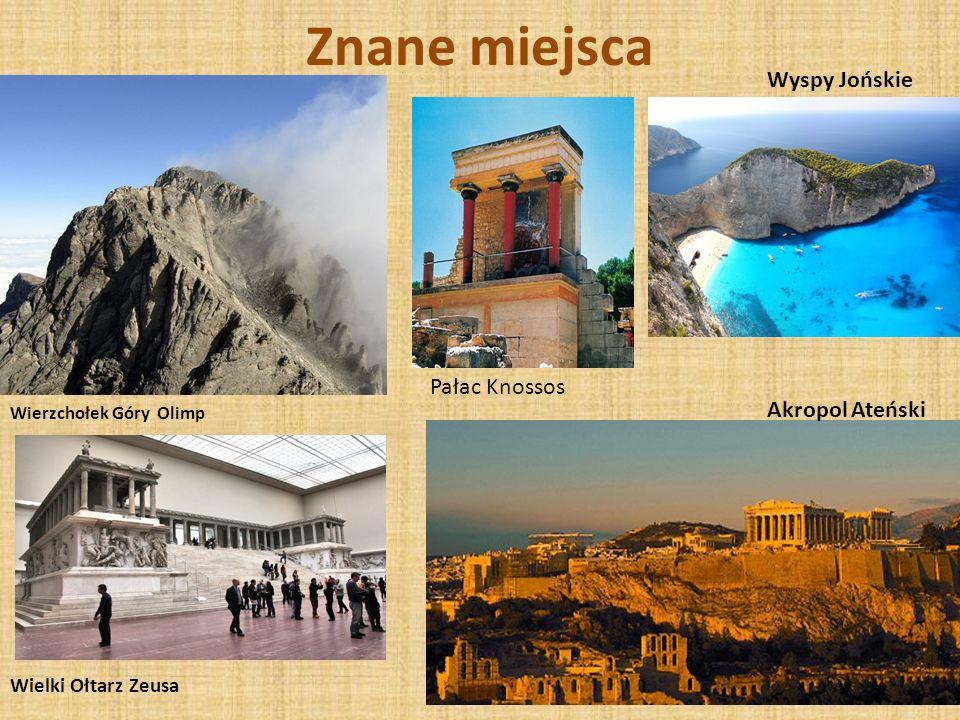 Znane miejsca Wyspy Jońskie Pałac Knossos Akropol Ateński