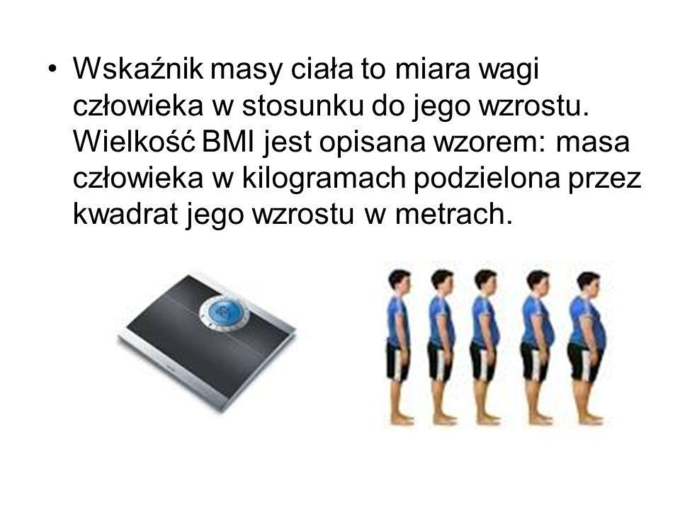 Wskaźnik masy ciała to miara wagi człowieka w stosunku do jego wzrostu