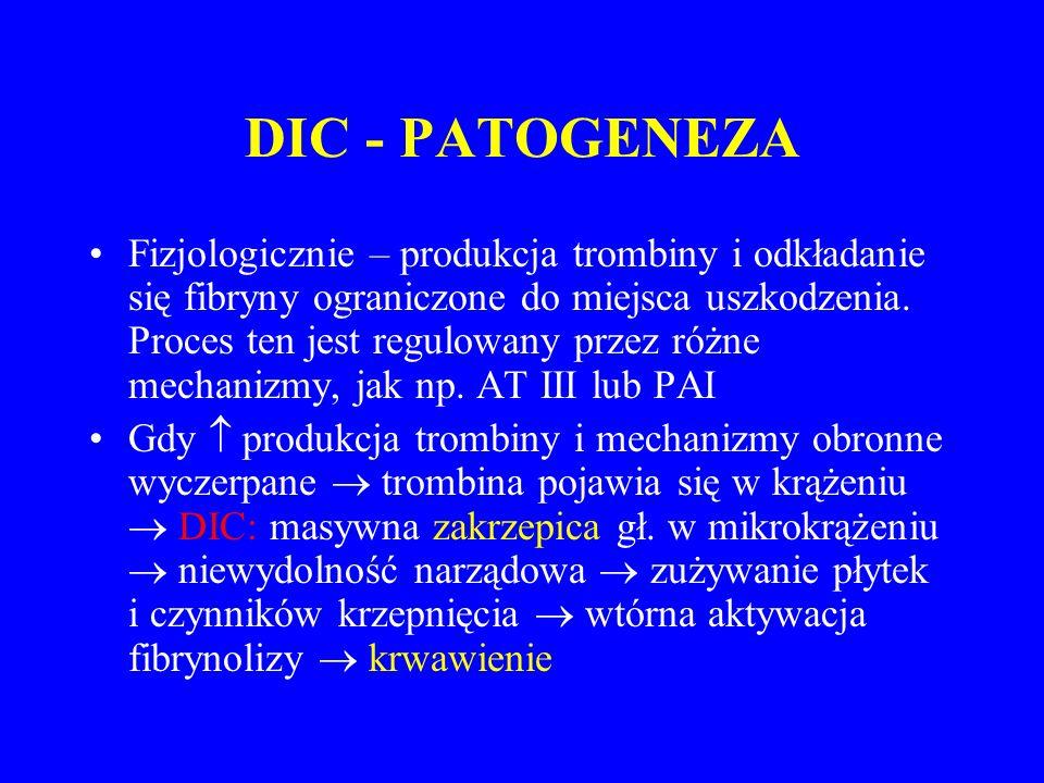 DIC - PATOGENEZA