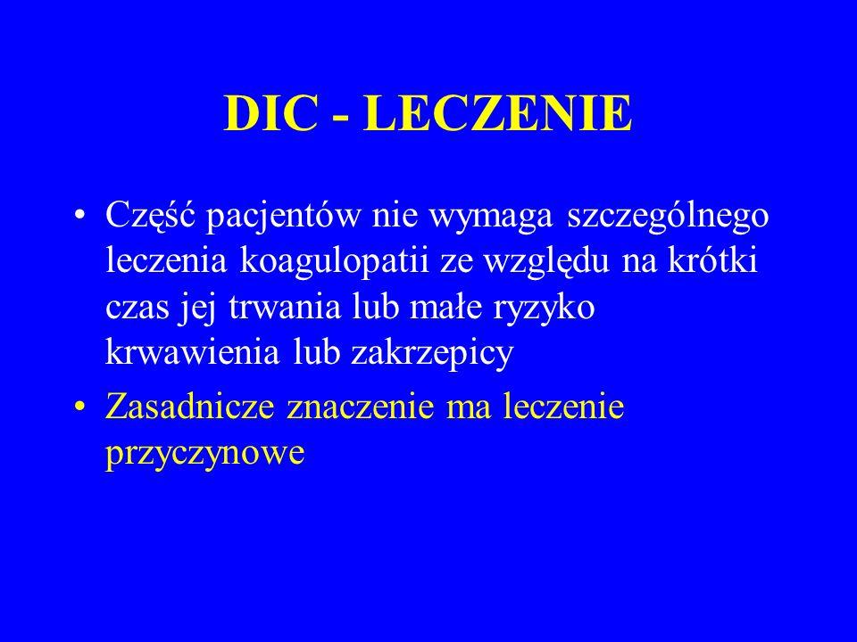 DIC - LECZENIE