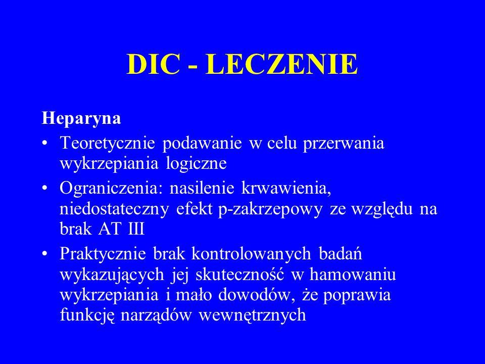 DIC - LECZENIE Heparyna