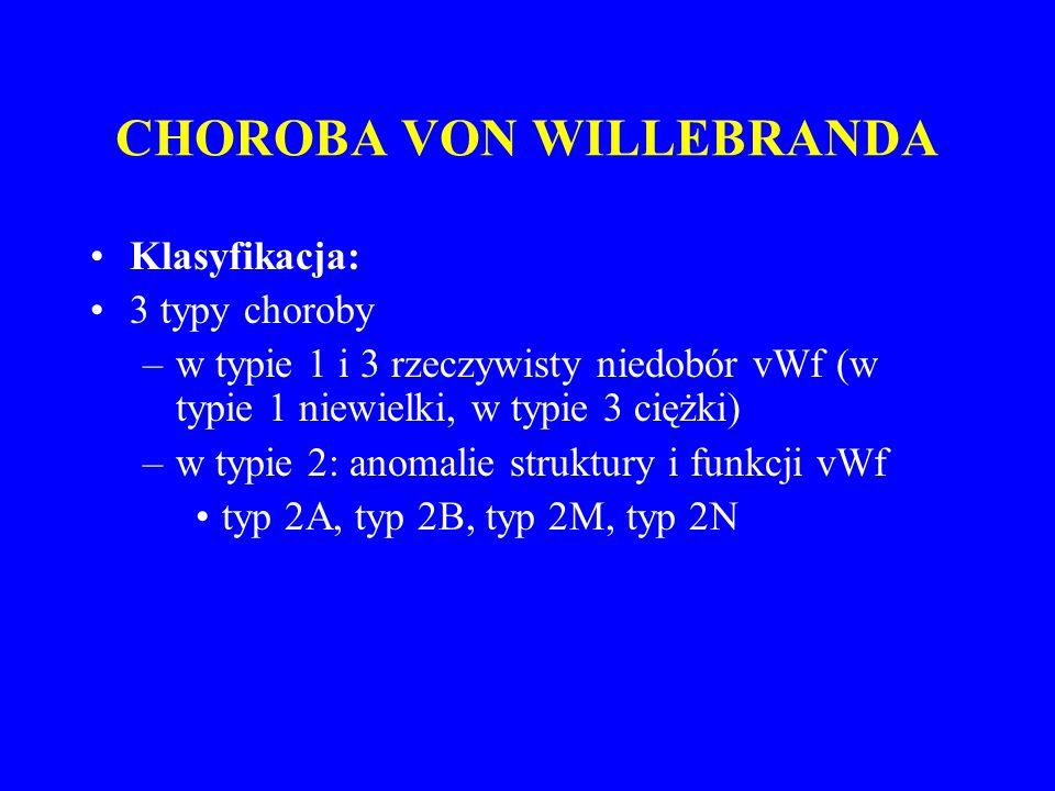CHOROBA VON WILLEBRANDA
