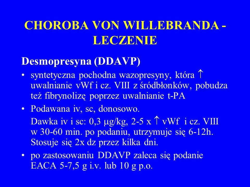 CHOROBA VON WILLEBRANDA - LECZENIE