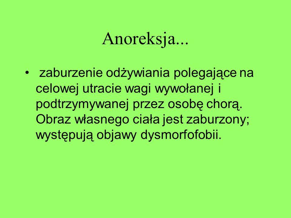 Anoreksja...