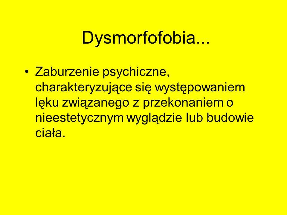 Dysmorfofobia...